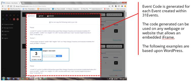 Sent Event Website Code