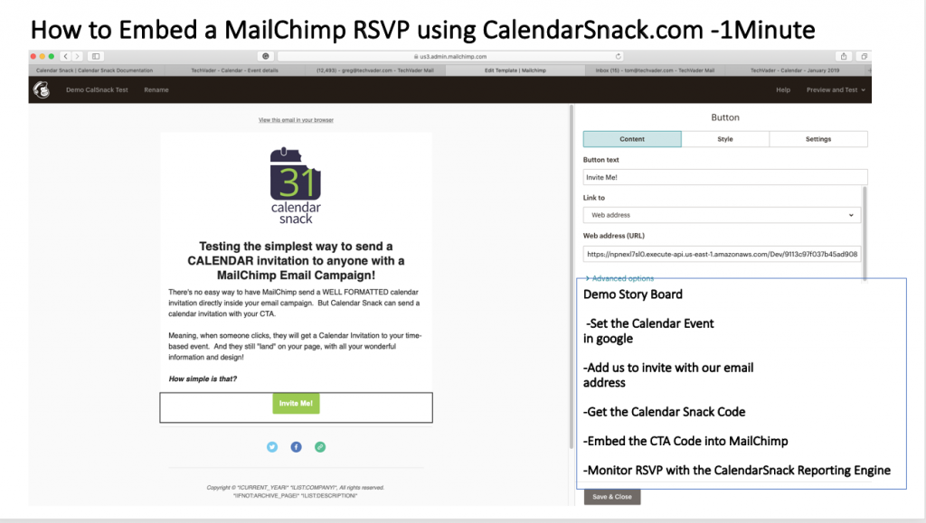 MailChimp RSVP for Calendar Invites