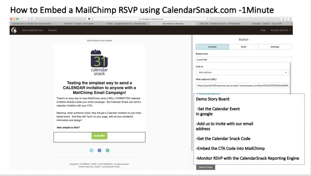 MailChimp RSVP for Calendar Invites