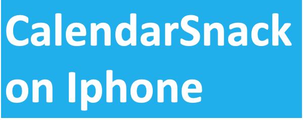 Iphone CalendarSnack
